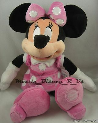 "NEW Disney Store Clubhouse Minnie Mouse Plush 15"" Toy Stuffed Doll Pink Dress"