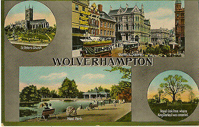 WOLVERHAMPTON (Staffordshire) : Multiview -four views -JACKSON & SON