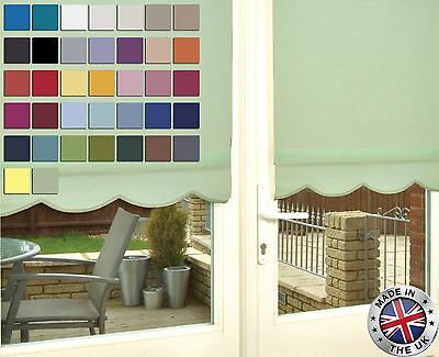 Sale *Easyfit* 37 Cols! * Made To Measure Scallop Edge Roller Blinds - Scalloped