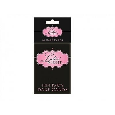 HEN NIGHT DARE CARDS Pack of 24 Ladies Party Bride Girls Hen Do Games & Fun