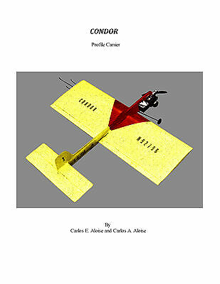 CONTROL LINE MODEL AIRPLANE PLANS  PROFILE CARRIER CONDOR  PLAN onCD