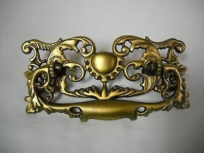 Antique Large Victorian Brass Drawer Pull