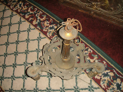 Antique Kaylite Mfg. Co. Art Deco Victorian Chandelier-Bronze Metal-3 Lights
