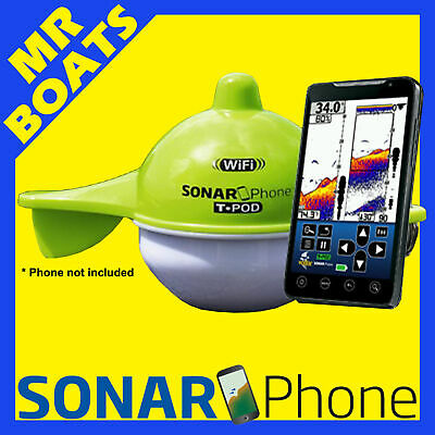 SONAR PHONE ✱ WIRELESS FISHFINDER T-Pod SP100 ✱ 4 Mobile Phone Tablets FREE POST
