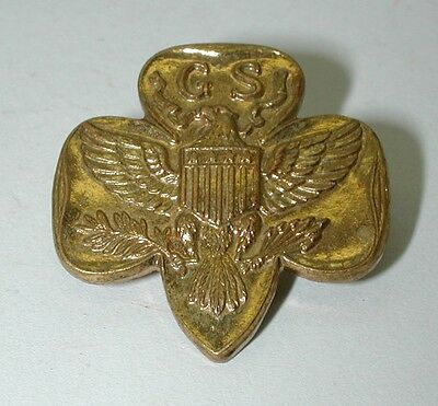 Girl Scout GS Pin back Button Pin Eagle