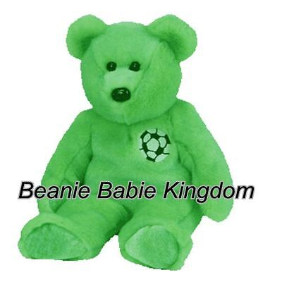 "Ty  Buddy * KICKS * The Green Football Buddie Bear 14"" Tall 09343"