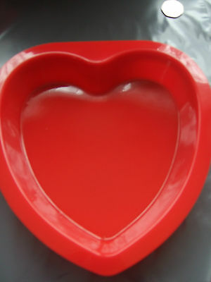 "Silicone Mould  8""(20cm) Large Heart Cake Tin-Baking/Bakeware Form"