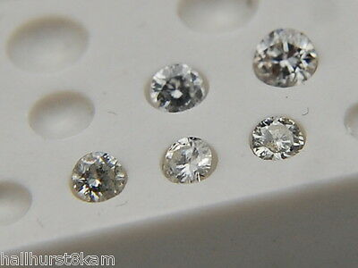 5 Round Natural Loose White SI1 - I  Diamonds 1.7mm - 1.8mm TCW - .100