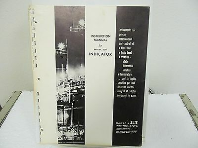 Barton 226 Indicator Instruction Manual w/schematic & Parts List