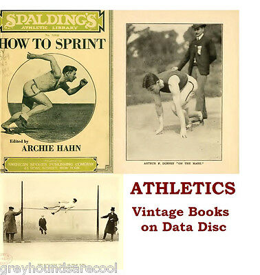 Athletics Collection Vintage Sport Books on Data Disc Running Track Field Events