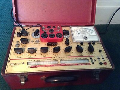 Hickok Model 6000A Dynamic Mutual Conductance Tube Tester Works Great Condition