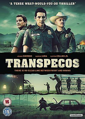 TRANSPECOS Johnny Simmons Gabriel Luna DVD in Inglese NEW .cp
