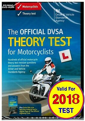 Official DVSA DVLA DSA Motorbike/Motorcycle Theory Test DVD for PC and MAC *mtrD
