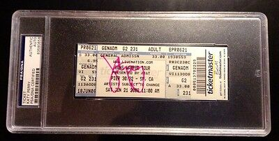 Katy Perry Hudson Signed AUTOGRAPHED Ticket Stub Warped Tour PSA/DNA