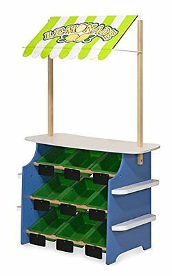Melissa & Doug Deluxe GROCERY STORE & LEMONADE STAND, Furniture Toddler TOY