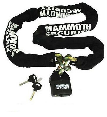 BIKE IT MAMMOTH MOTORCYCLE SECURITY 12mm HEXAGON LOCK and CHAIN 1.8m LOCMAMSS01
