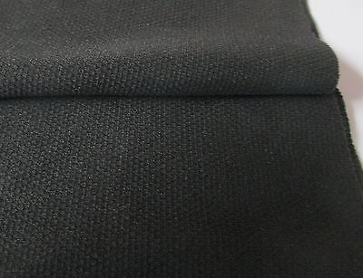1 Metre x 800 mm. Very Dark Grey Speaker Grill  Fabric / Cloth/Material.UK Mfr.