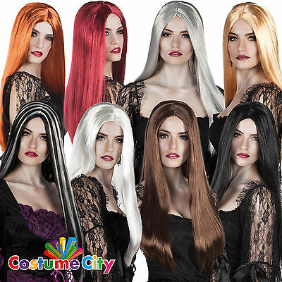 "Womens Ladies Classic 24"" Witch Wig Halloween Fancy Dress Costume Accessory"