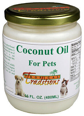 Tropical Traditions Coconut Oil for Pets - 1 pint - 16 oz. [3477]