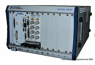National Instruments PXIe-1062Q 8-Slot PXI Chassis w/ PXI-4461 PXI-4462 PXI-8105