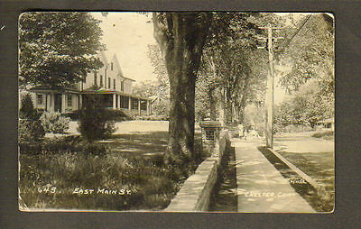 CHESTER, CT ~ EAST MAIN STREET, HOMES, SPENCER RPPC ~ circa 1910-20