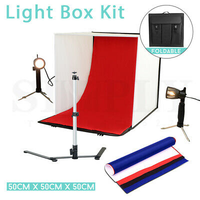 50cm Photography Photo Studio Softbox Light Tent Cube Box Lighting Backdrops Kit