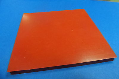 1.5mm Silicone 100mm square, Heat & Chemical  A grade, Flexible, Red 1/16 THICK