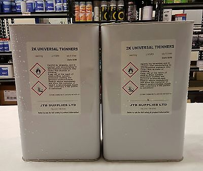 2 x5  LITRE CAN MILLACO/ JTB UNIVERSAL 2K / BASECOAT THINNER