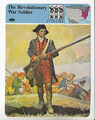 THE REVOLUTIONARY WAR SOLDIER Continental Army Uniform STORY OF AMERICA CARD