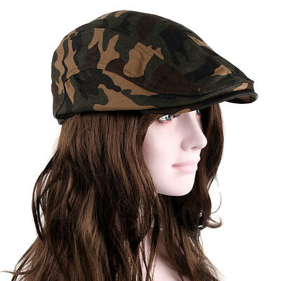 New Camouflage Gatsby Cap Newsboy Ivy Hat snap Golf Driving Cabbie Flat Cabbie