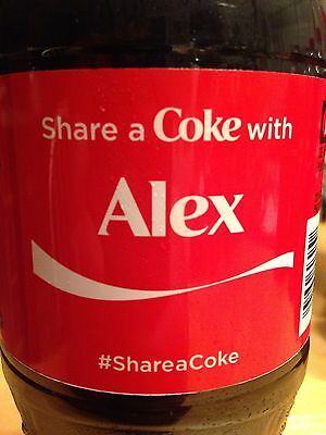 Share A Coke With Alex Coca Cola Bottle New Unopened