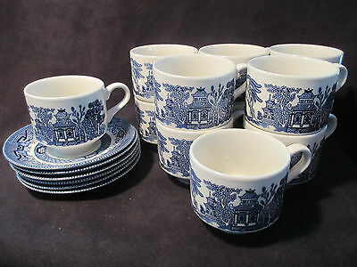 Churchchill Made in England Cups and Saucers 18 Pieces