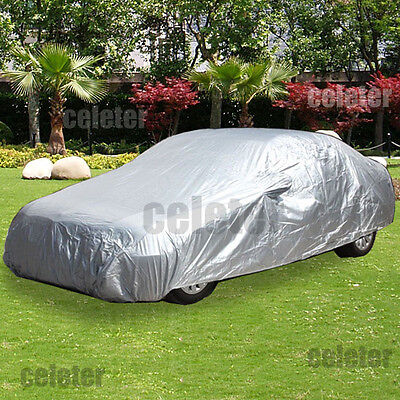 Waterproof Car Cover Universal Compact Mid-size Cars UV Protection ZCS3S