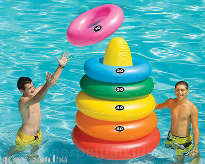 Swim Sportz Giant Ring Toss Game / Includes 5 Swim Rings  - Pool Parties