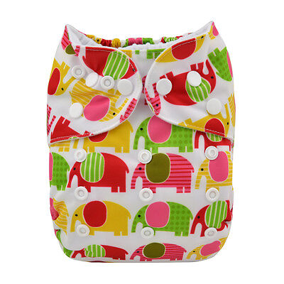 Cute ALVA Reusable Washable One Size Baby Cloth Diaper Nappy for Girls +1Insert