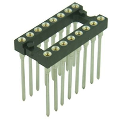 Turned Pin Wire Wrap DIL IC Sockets 0.3in 14 Pin