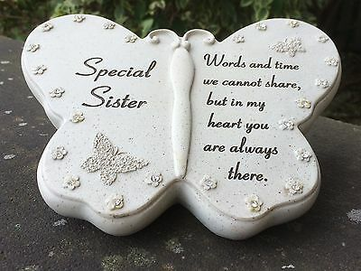 Memorial For Special Sister Butterfly Shaped Grave Ornament