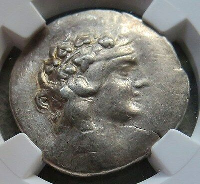 1st CENTURY  BC SILVER THRACE ISLAND OF THASOS TETRADRACHM NGC EXTRA FINE