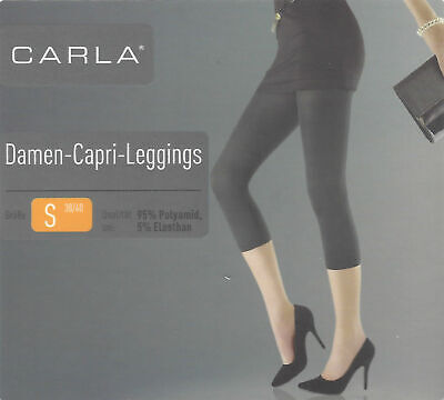 Damen-Capri-Leggings Leggins schwarz Stretch S M L