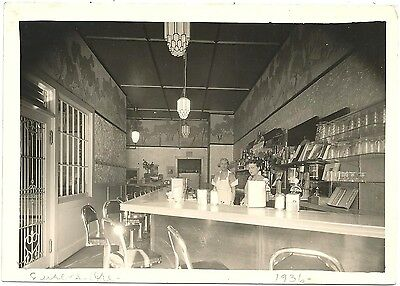 Eugene Oregon Diner Counter 1936 ~ Deco Lights, Candy, Signs, Lunch Counter +