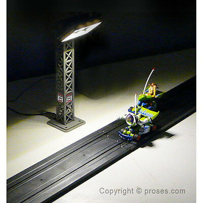Hos-01 Ho Scale Light Tower For 1:64 Slot Car Layouts