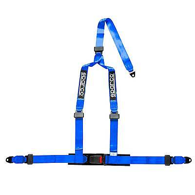 Sparco 3 Point Driver Clubman Motorsport/Racing Crutch Harness - Blue