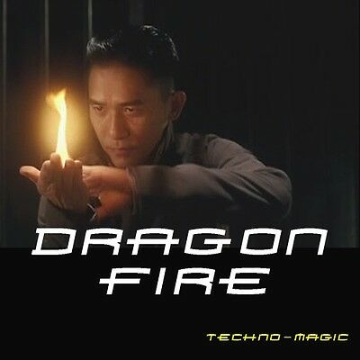 Dragon Fire Frame Lighter,Fire From Hands Gimmick,Close Up,Stage Magic Trick,