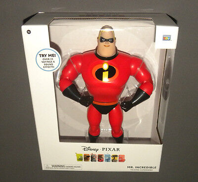 Disney Pixar Mr. Incredible Talking Superhero Action Figure The Incredibles Doll