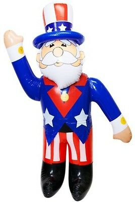 Jumbo Inflatable Uncle Sam (Stands 6 Feet High), Free Shipping, New
