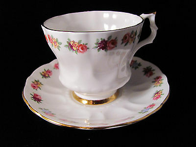 Royal Imperial teacup small floral old antique