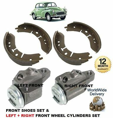 MORRIS MOGGY MINOR 1000 1962-1971 NEW 2x FRONT BRAKE WHEEL CYLINDER & FRONT SHOE