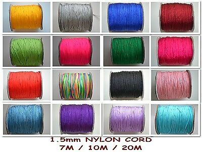 1.5mm Nylon Cord Thread BUY 5 GET 1 FREEE for Shamballa Kumihimo macrame 7M-20M