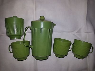 Vintage EAGLE TOYS Drink Set 3 Cups 1 Lidded Pitcher & Lidded Sugar from Canada