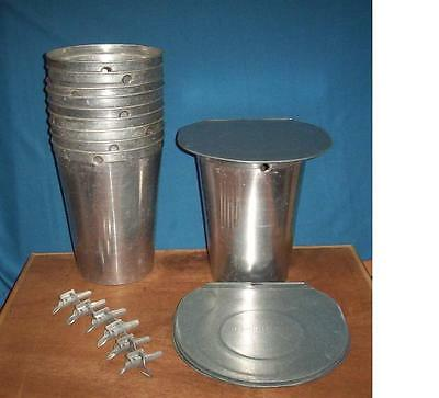 4 MAPLE SYRUP Aluminum Sap Buckets + 4 Lids COVERS + 4 TAPS Spiles Spouts